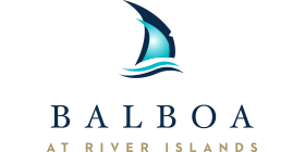 Logo for the Balboa at River Islands community
