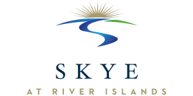 Logo for the Skye at River Islands community